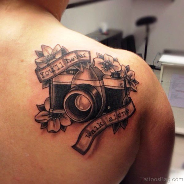 Camera With Flowers Tattoo