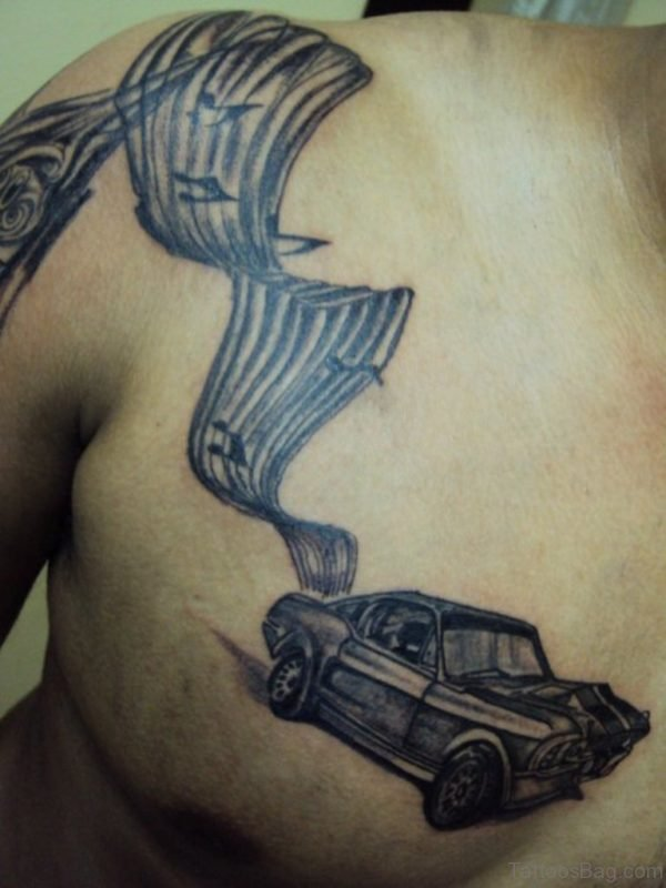 Car And Music Tattoo