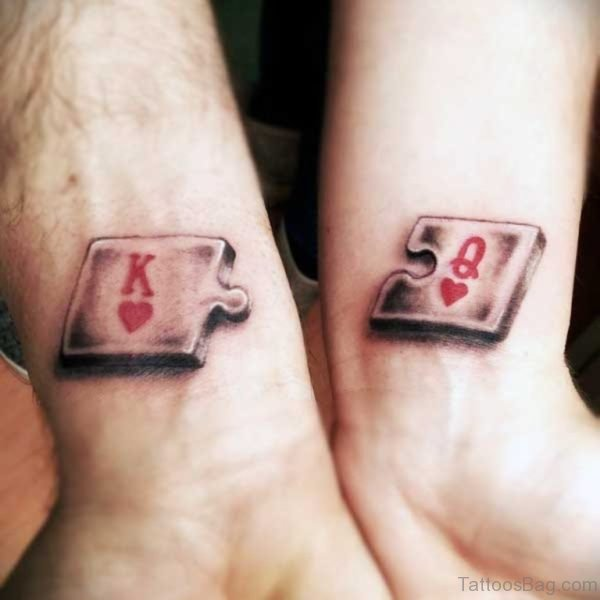 Cards King And Queen Tattoo
