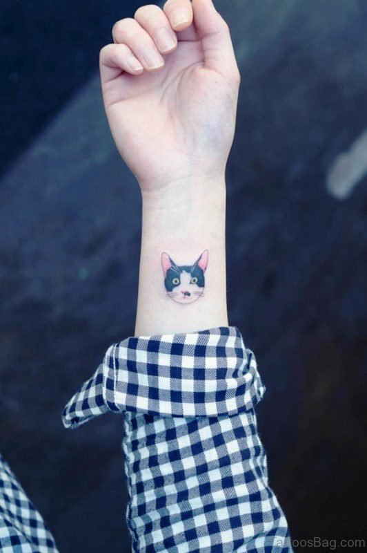 Cat Tattoo On Wrist