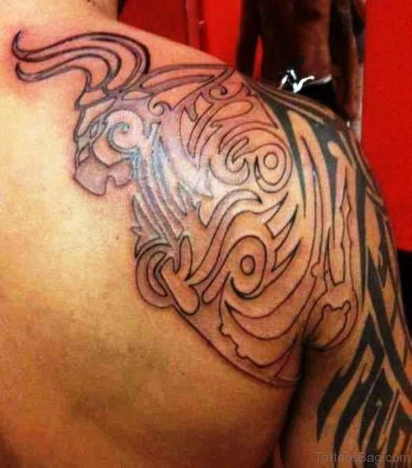 Celtic Bull Tattoo On Shoulder
