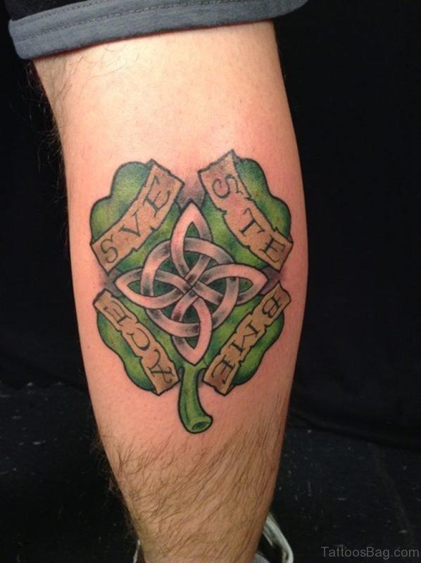 52 cool celtic tattoos design on leg. Black Bedroom Furniture Sets. Home Design Ideas