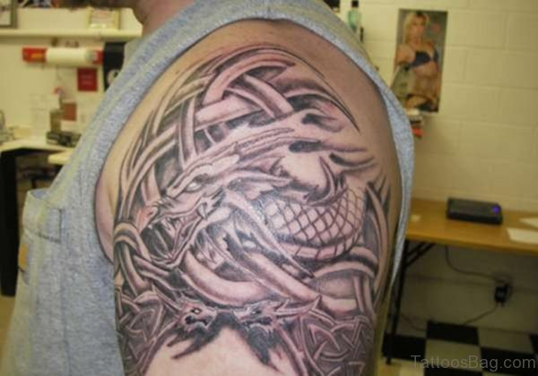 Celtic Dragon Armband Tatto