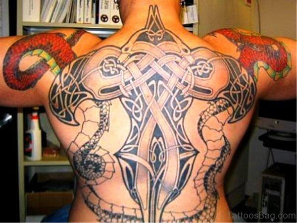 Celtic Dragon Tattoo On Back