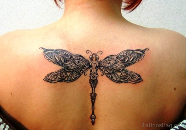 Celtic Dragonfly Tattoo On Back