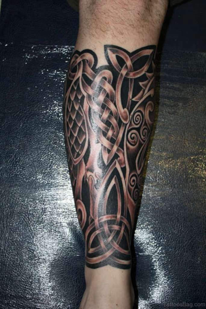 52 cool celtic tattoos design on leg. Black Bedroom Furniture Sets. Home Design Ideas