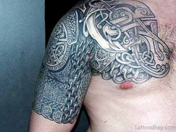 Celtic Tattoo Design On Shoulder Image