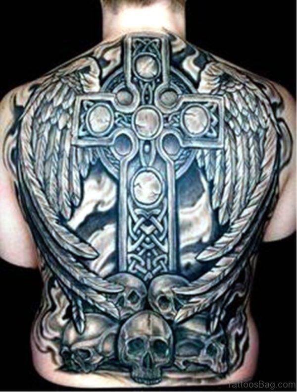 Celtic Tattoo On Full Back