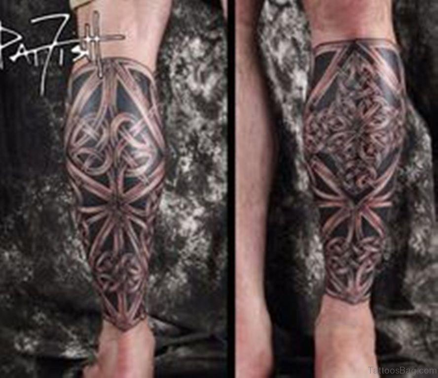 310913ad1d610 52 Cool Celtic Tattoos Design On Leg