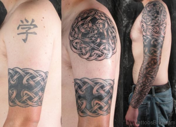 Celtic Tattoo On Full Sleeve