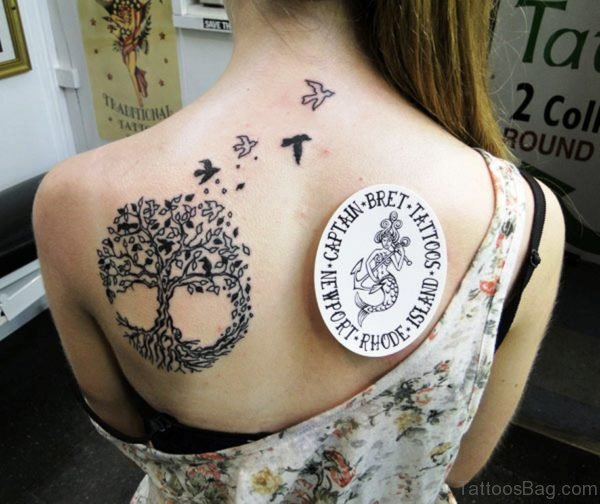 Celtic Tree Tattoo On Back