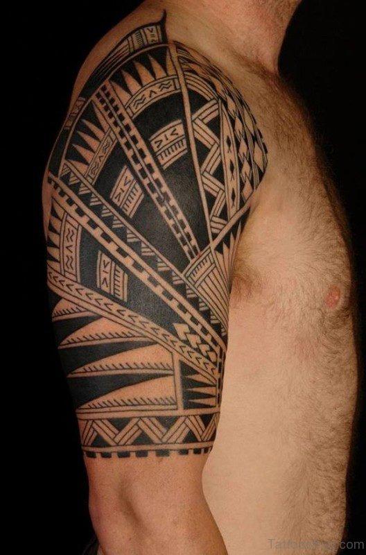 Celtic Tribal Shoulder Tattoo