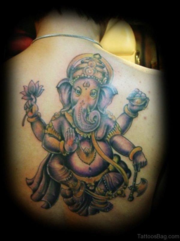 Charming Ganesha Tattoo