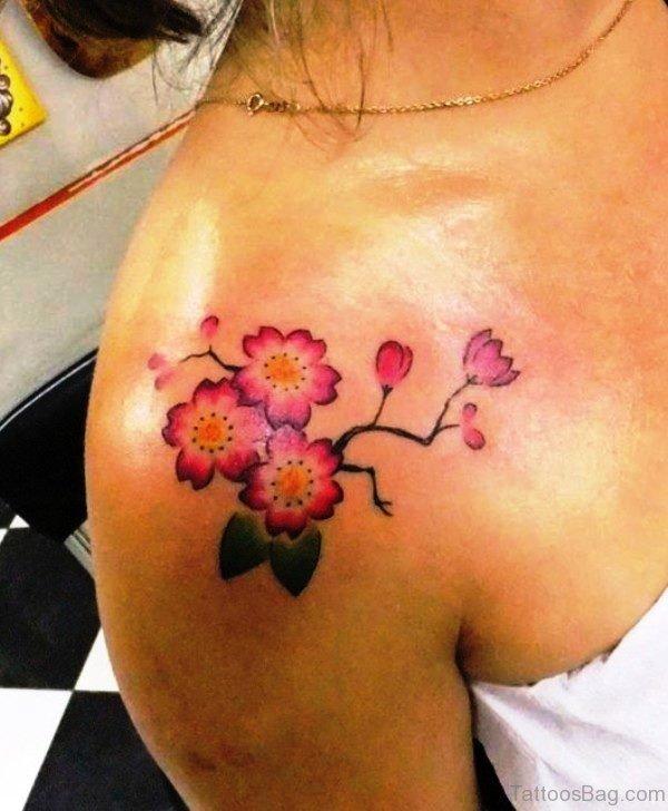 Cherry Blossom Flower Tree Tattoo