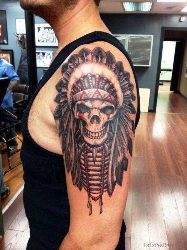 Chief Skull Head Tattoo