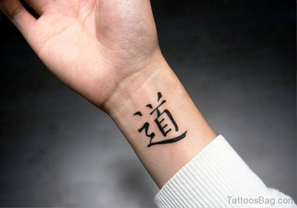 Chinese Wrist Tattoo