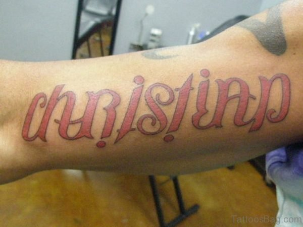Christian Ambigram Tattoo