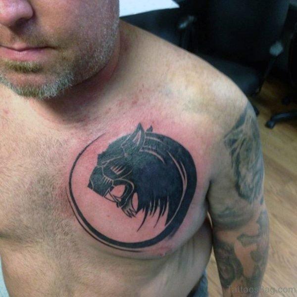 Circular Tribal Lion Tattoo