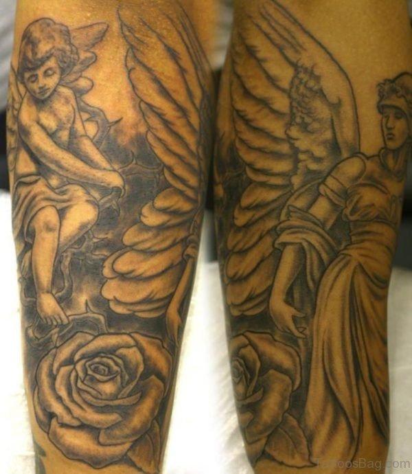 Classic Angel Tattoo