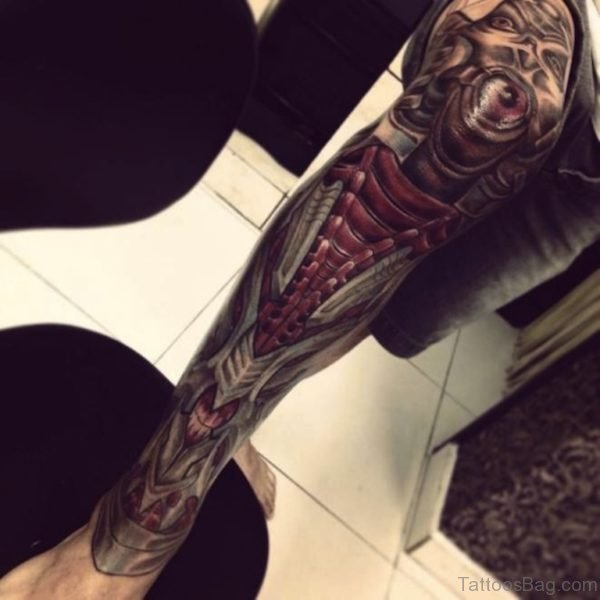 Classic Biomechanical Tattoo