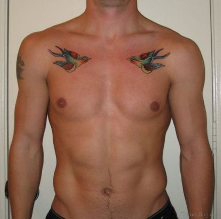 50 fabulous birds tattoos on chest. Black Bedroom Furniture Sets. Home Design Ideas