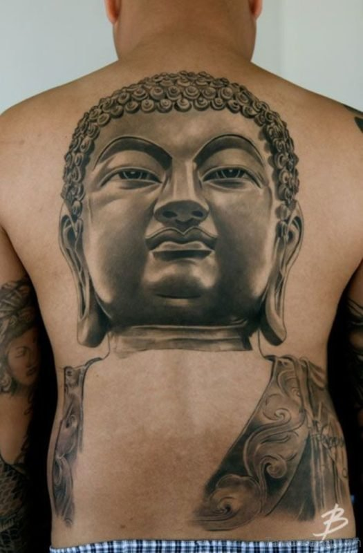 Classic Buddha Face Tattoo