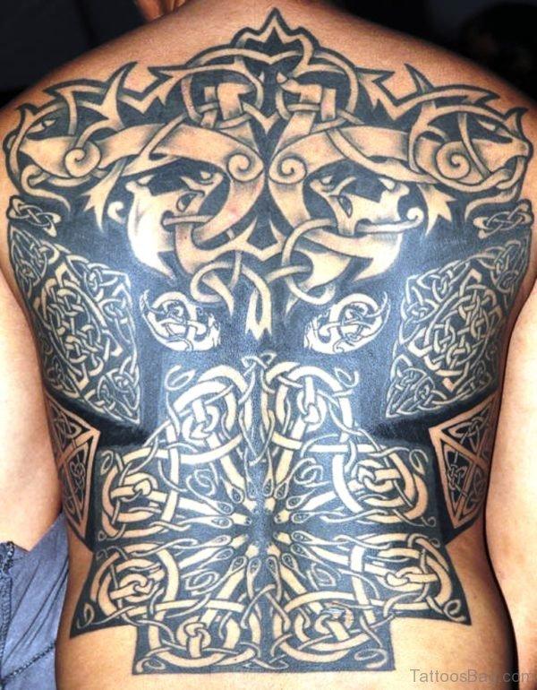 Classic Celtic Tattoo On Back