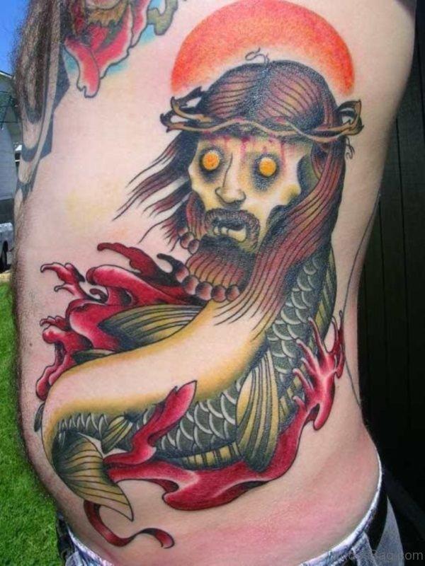 Classic Jesus Tattoo