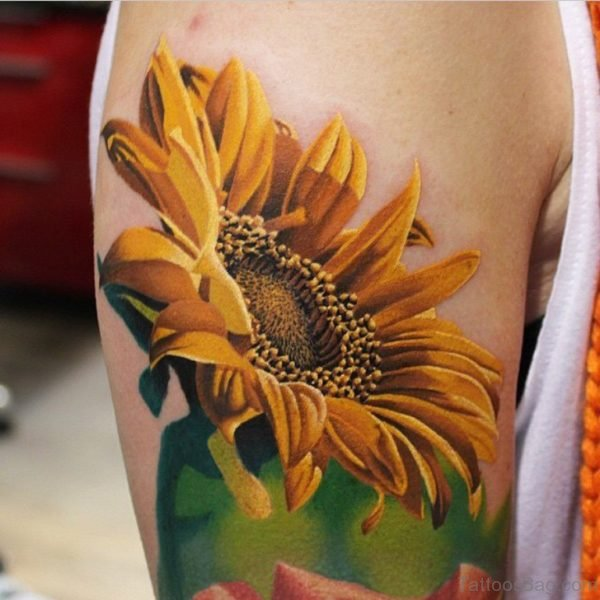 Classic Sunflower Tattoo