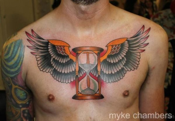 Classic Wings Tattoo On Chest