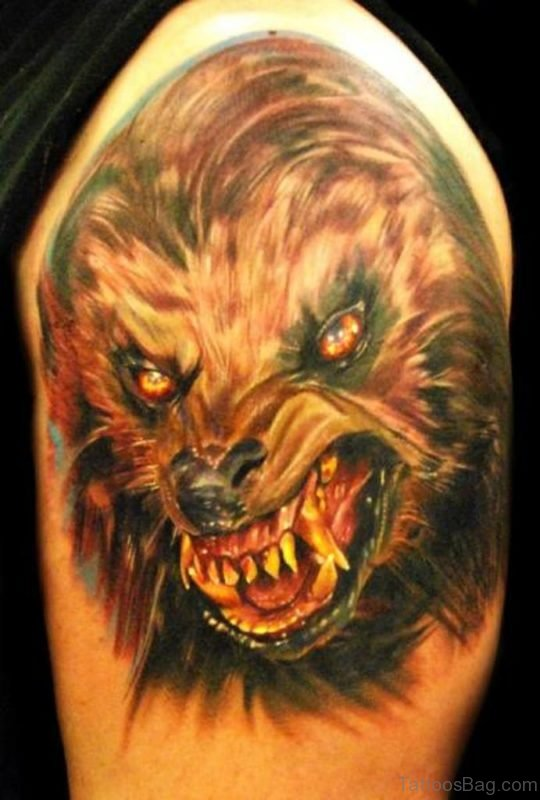 Classic Wolf Tattoo Design