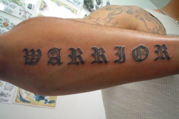 Classic Wording Tattoo