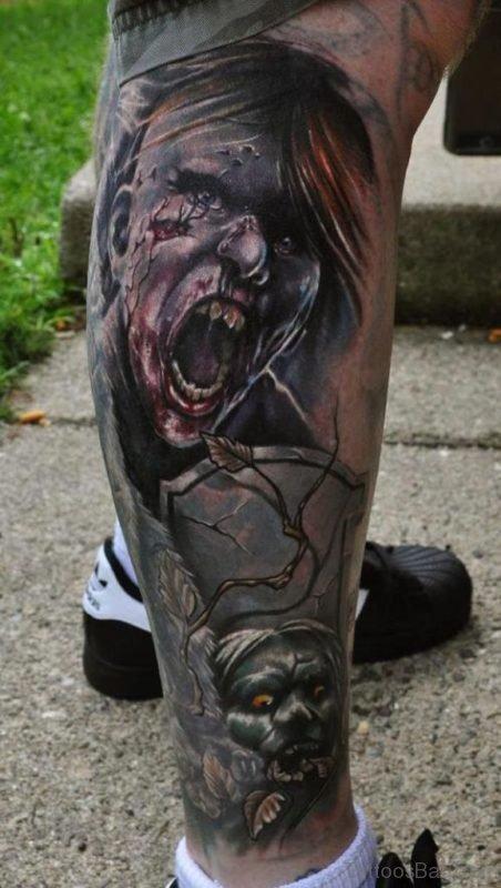 Classic Zombie Tattoo