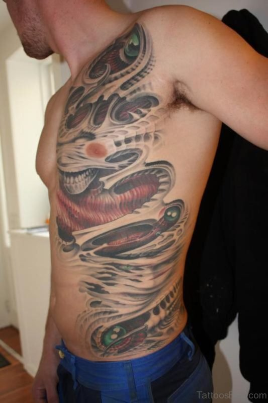 Classy Biomechanical Tattoo