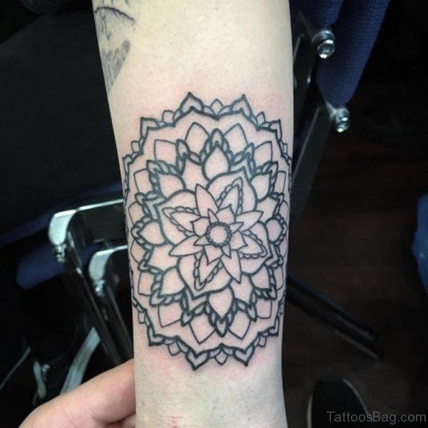 Classy Mandala Tattoo On Arm
