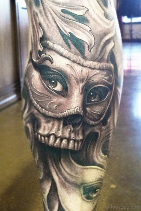Classy Skull Tattoo Design
