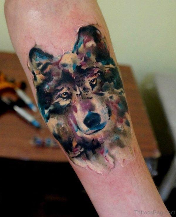 Classy Wolf Tattoo Design