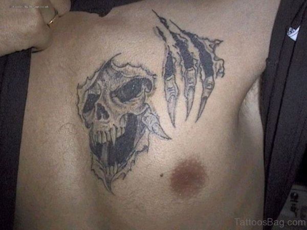 Claw Tattoo On Chest