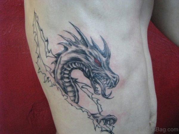 Clawing Dragon Tattoo
