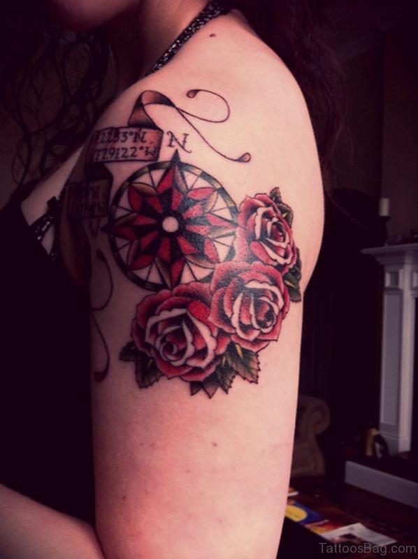 Color Compass Tattoo