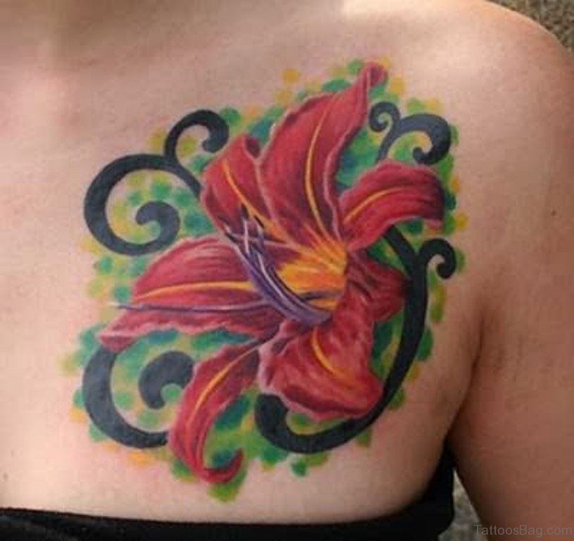 75 Pretty Flowers Tattoos On Chest