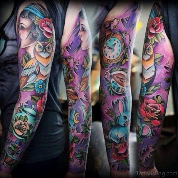 Colore Owl Tattoo
