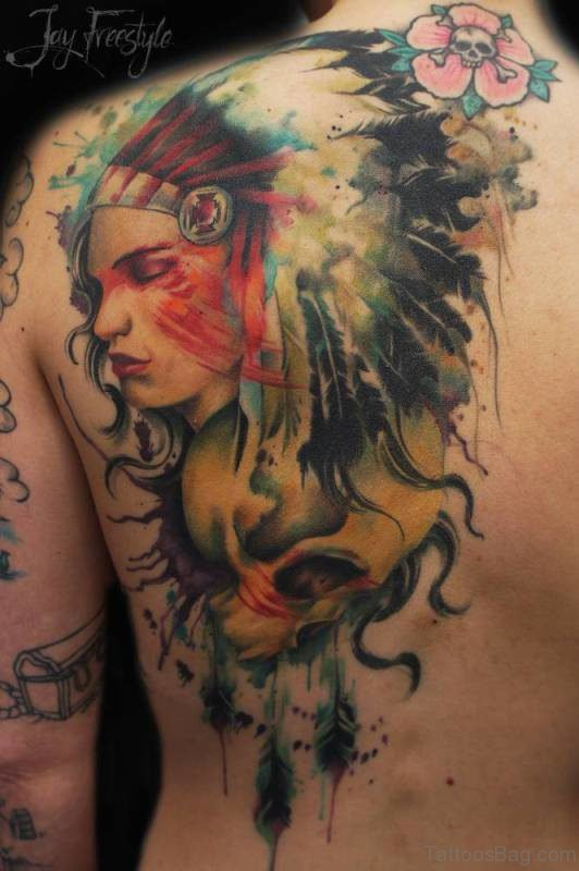 Colored American Tattoo