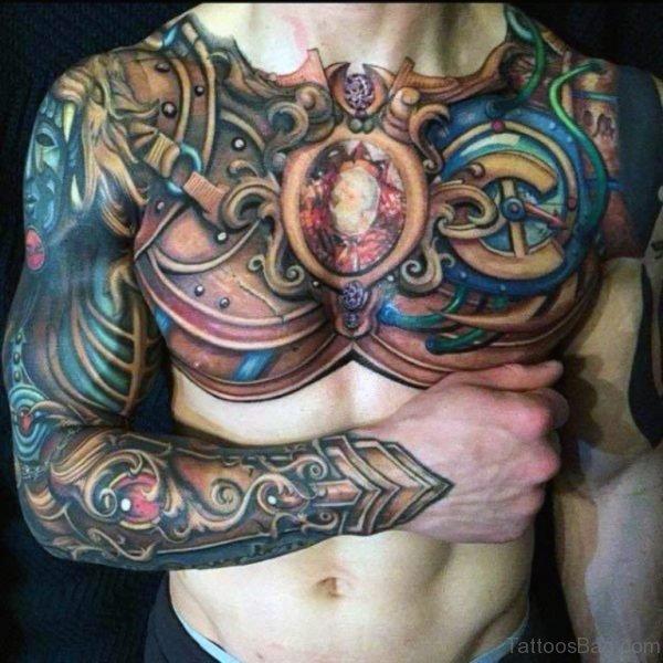 Colored Armor Tattoo