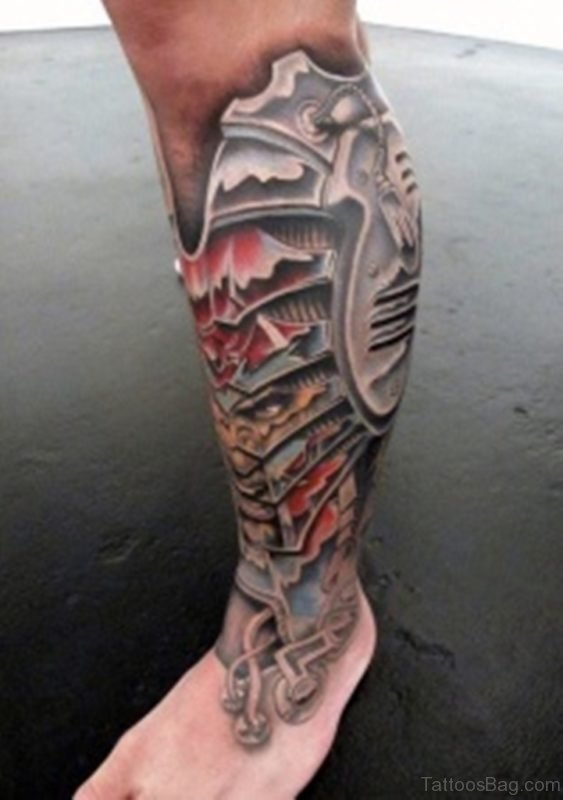 Colored Biomechanical Tattoo