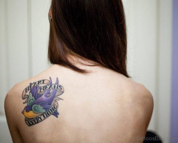 Colored Dove Tattoo Design