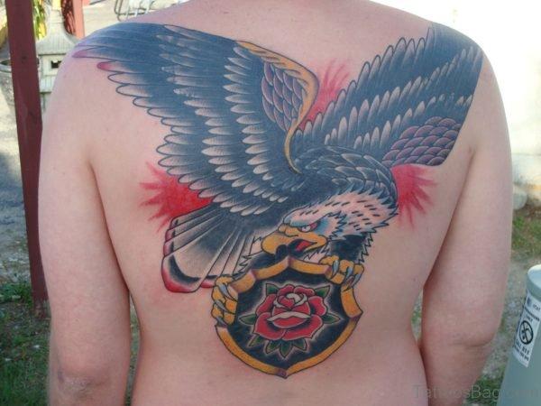 Colored Eagle Tattoo Design