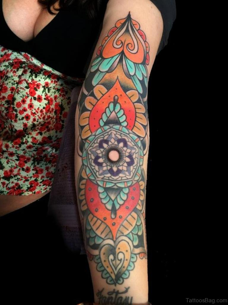 72 great classic mandala tattoos for arm. Black Bedroom Furniture Sets. Home Design Ideas