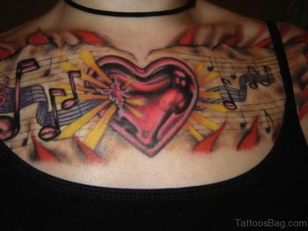 Colored Music Tattoo