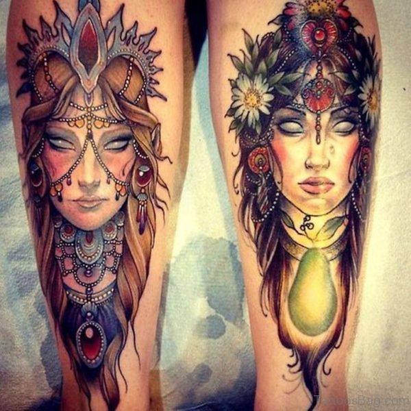 Colored Portrait Tattoo